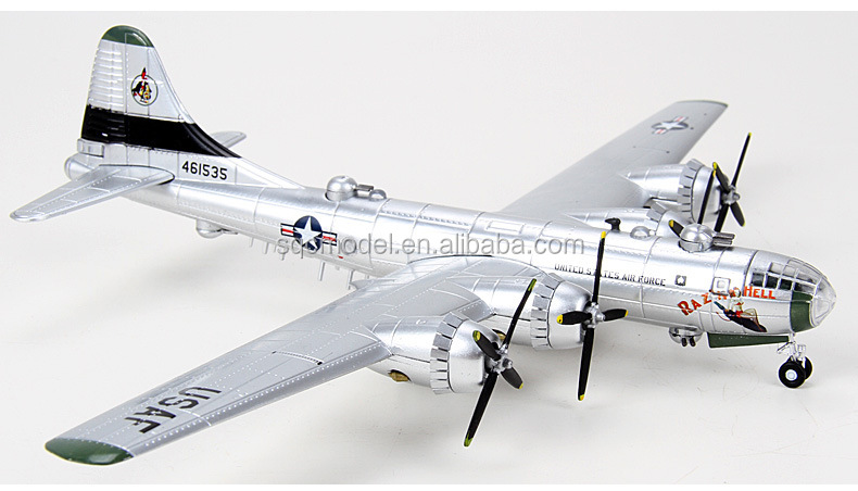 1:144 scale B-29 metal military bomber aircraft model