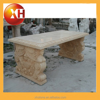 outdoor stone lion bench chair for cheap sale