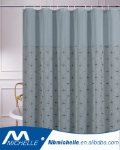 Interdesign embroidery pintuck polyester Fabric bath shower curtain fabric