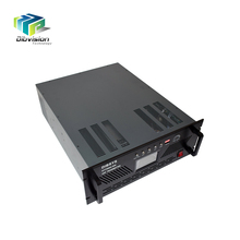 UHF Terrestrial TV broadcast dvb-t transmitter Air-Cooled Anti Interference 200W/300W 80MHz with digital tv antenna