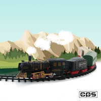 High quality electric model train toy with house and tree