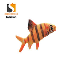 3D printing simulation Yellow spot fish high quality stuffed plush sea animals toys