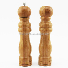 kitchen bamboo salt shaker and pepper grinder set