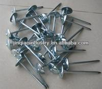 High Quality Eelectro Galvanized Umbrella Head Roofing Nails, Smooth Shank