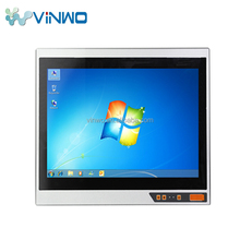 Fanless industrial pc case, linux touch screen industrial panel pc with 17 inch