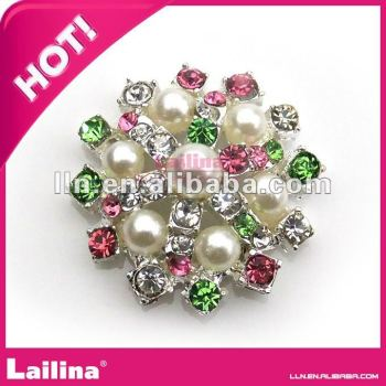 new coloful shiny fashion rhinestone crystal pearl buttons