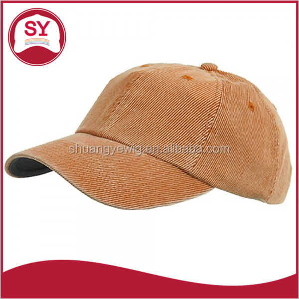 Corduroy Cotton Washed baseball cap,corduroy military cap