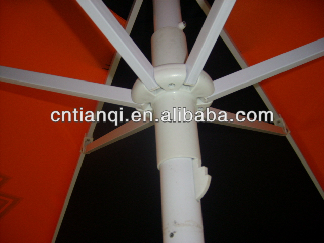 High quality markting aluminum grden umbrella outdoor parasol frame with pole and ribs