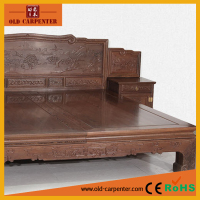 Hot sale double wood bed design furniture