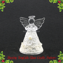 Hand blown small glass christmas angel figurines ornament