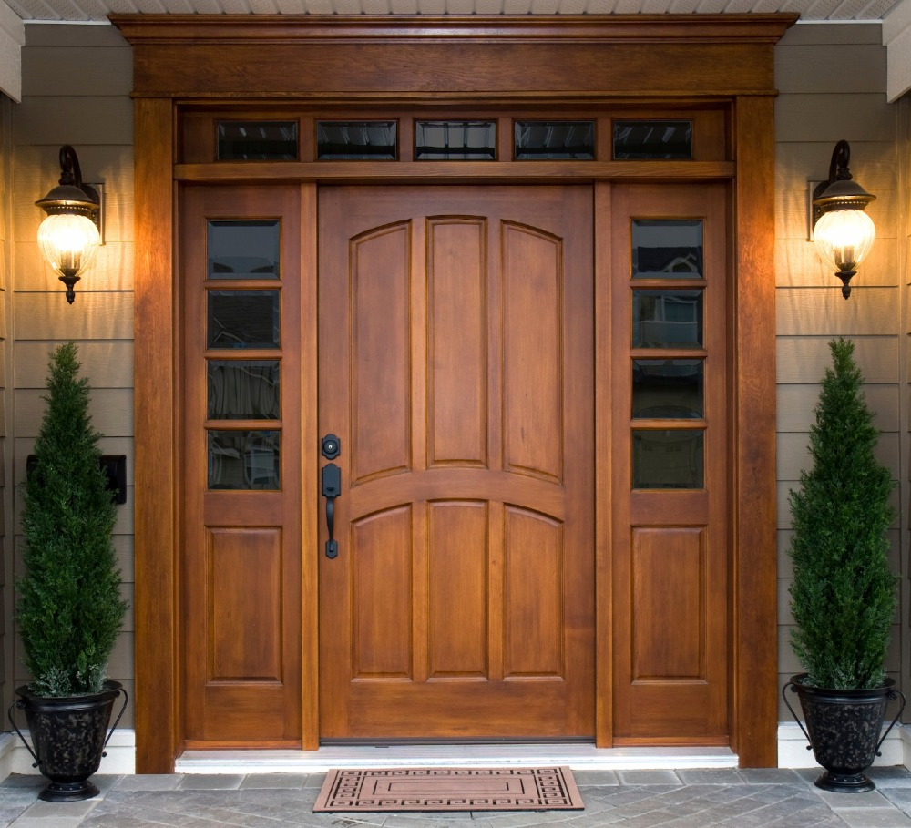 Home Solid wood external main entrance doors price