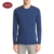 Autumn Shoulder Leather Patch Knitted Pullover Sweater For Men