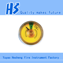 High Quality Pressure gauge for Powder/Foam fire extinguisher bourdon tube pressure gauge Spring Tube Pressure Gauge