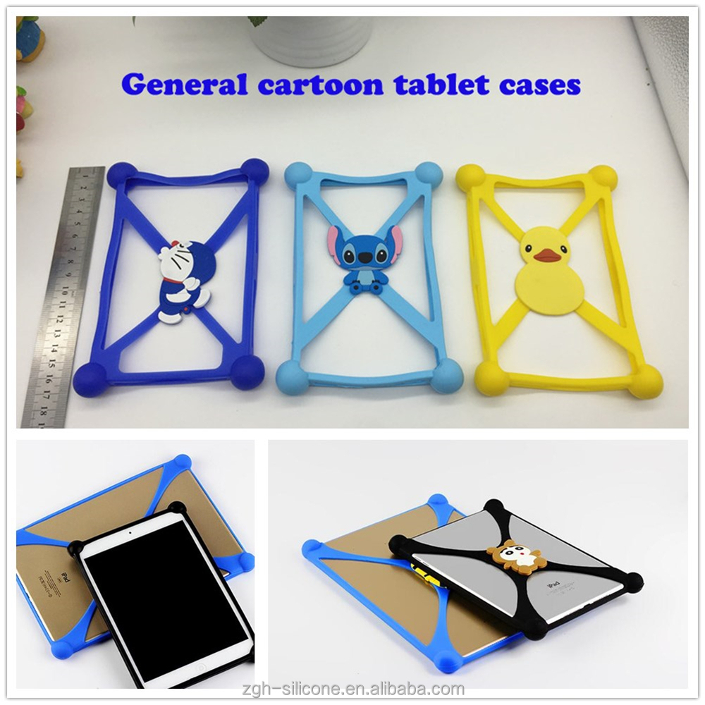 Multifunction Silicone rubber tablet case/tablet bumper case with shockproof tablet case silicone
