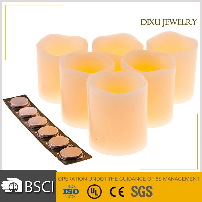 Battery Operated Flameless Flickering LED Unscented Candles With Timing Function LED Real Wax Candle Light