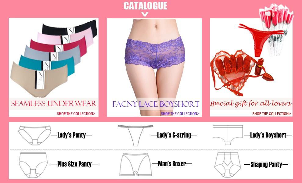Suerhuai Knitting Underwear Co Ltd : Yiwu yunjie knitting co ltd lady panties thongs