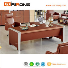 Modern design leather stainless steel frame executive office table