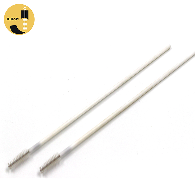 Bent Angled Metal Material Stainless Steel Durable Used Folding Reusable Drinking Straw Cleaning Brush