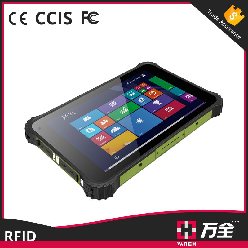 Windows 8.0/android 4.4 uhf rfid handheld reader and tablet