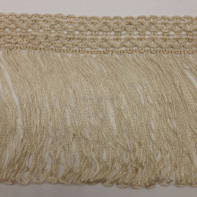 fashion vertical slip silk long viscose rayon chainette fringe macrame