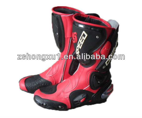 Factory Black High Quality Protective Racing Sport Motorcycle Boots