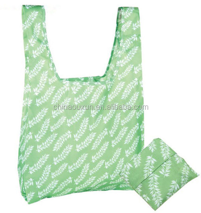 good quality foldable nylon fold up tote eco polyester bag
