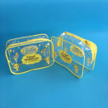 Cheap Selling Pouch Clear Eco Friendly Transparent PVC Cosmetic Bag With Zipper