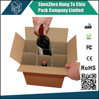 Bottle Wine Shipping box corrugated 6 carrier beer box cardboard packing