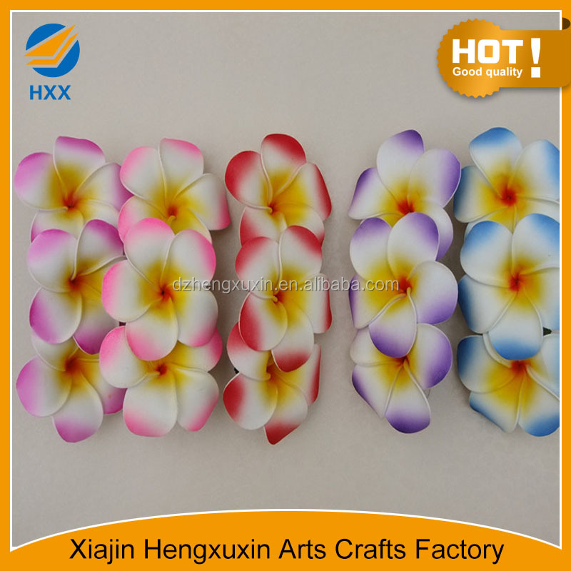 real touch artificial plumeria flower with multi-colour