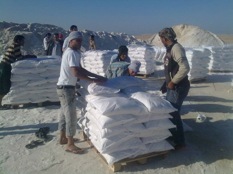 RAW SALT FOR DEICING IN 25KG