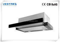 2016 new design kitchen cooker range hood with fume hood LED light carbon filter