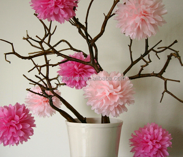 12 colorful hanging decoration tissue paper pom pomshandmade diy 5 mightylinksfo
