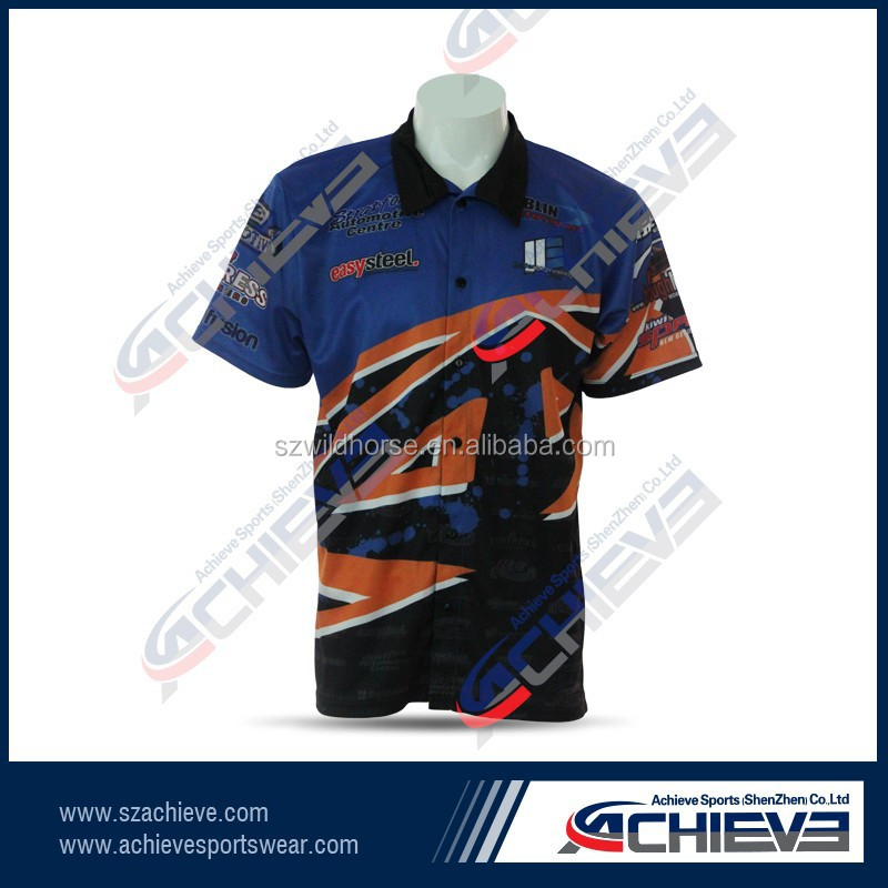 2017 Customized Sublimation team motor shirts motorcross jersey racing jersey