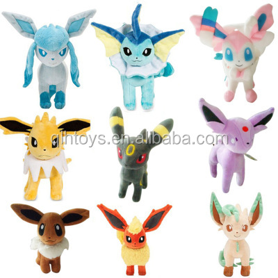 Anime Pokemon Plush Toys 22cm Big Sitting Eevee Kawaii Soft Stuffed Plush Doll Kids Toys Christmas Gift For Children""