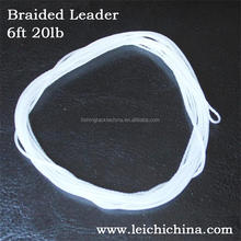 Top quality 6ft 20lb braided leader fly fishing line