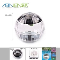 Running Time 4 Hours IP55 Solar Pond Light with 0.15W Solar Panel 1 RGB LED Solar Pool Lights