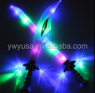 2016 hot sell Kids LED flashing musical knife sword toy