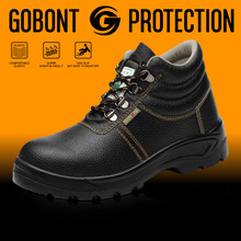 Chinese factory supplier genuine leather upper anti-water safety shoes with safe toe 802-1