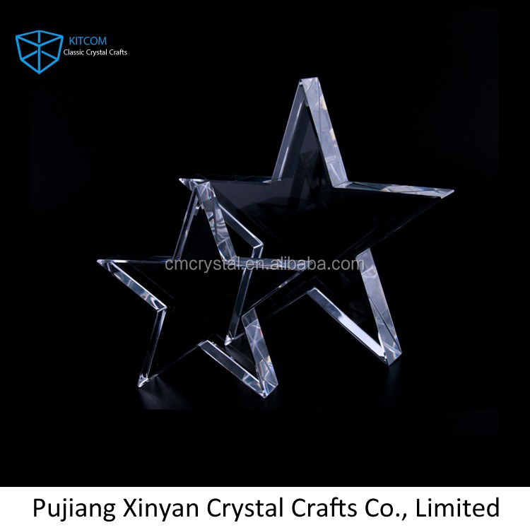 crystal paperweight wholesale/crystal star paperweight