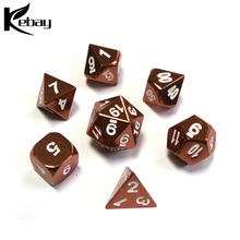 Custom Newest Cheap Aluminum Polyhedral Colorful Metal Game Dice