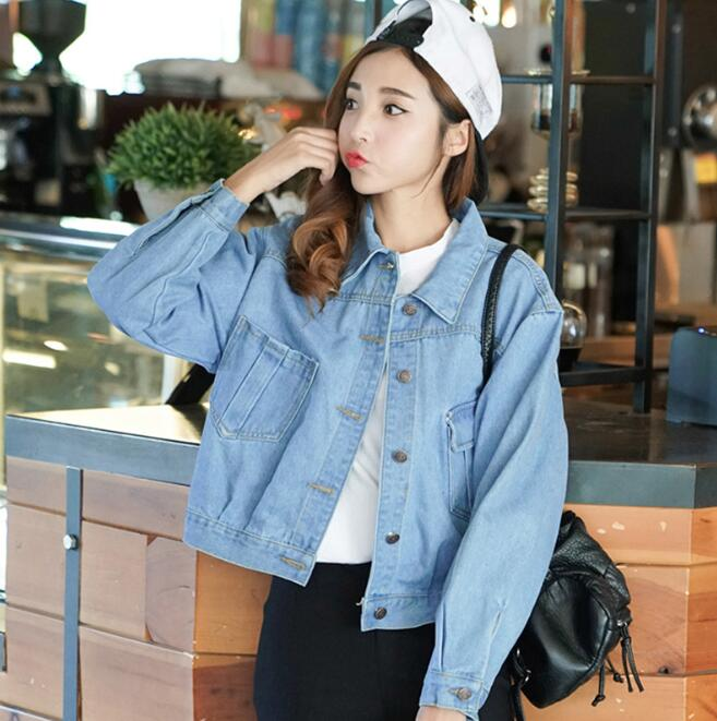 zm53999a China Factory fashion ladies coat long sleeve denim women jeans jacket