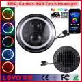 "Hot! apple android bluetooth control RGB jeep headlight with 7inch"" high low beam"