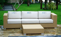 Synthetic rattan outdoor sofa