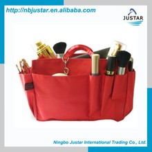 Wholesale Polyester Material Storage Bag Eco Reusable Grocery Shopping Tote Bag with Multiple Side Pockets