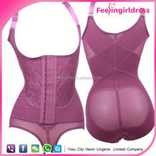 Purple Sexy Body Shaper Slimmer Control adult bodysuit