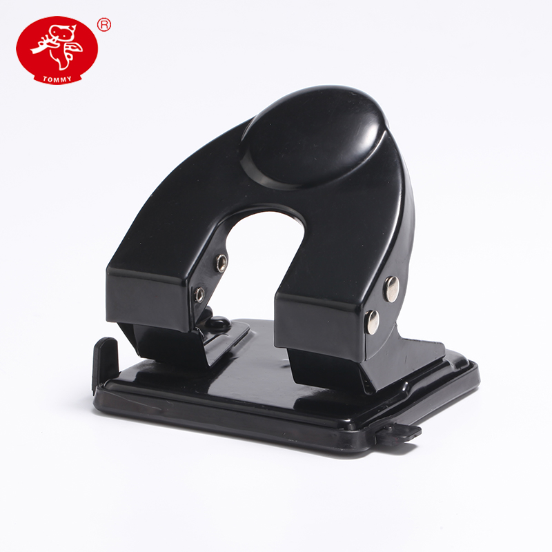 Office Stationary Two Paper Hole Punch Manual Black/Red Paper Craft Punch