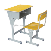 2016 New plywood school desk and chair