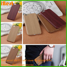 fancy oem phone slim wood line pc pu soft case plain mobile phone cases for iphone 6/6s