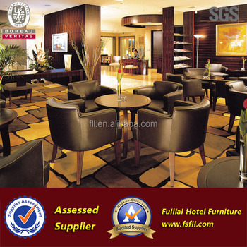 Latest modern wooden coffee shop hotel restaurant furniture set