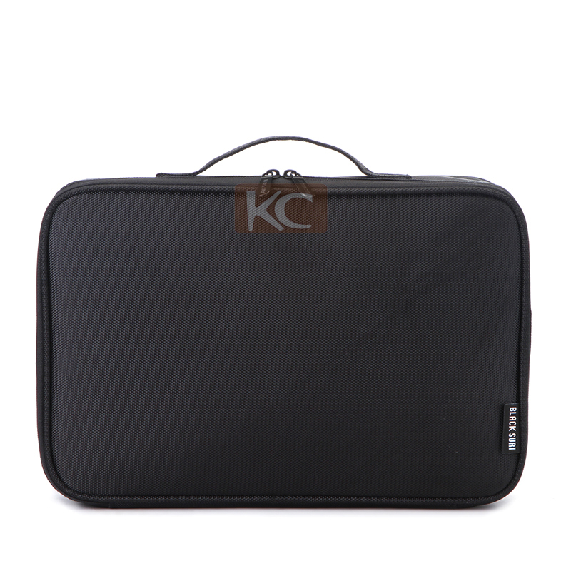 High Quality Black Nylon Cosmetic Bag